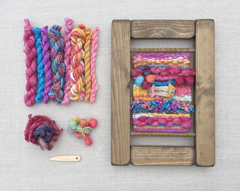 Weaving Kit: Learn to Weave Beginners Craft Kit, Tutti Frutti Colours