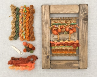 Weaving Kit: Learn to Weave Beginners Craft Kit, Autumn Colours