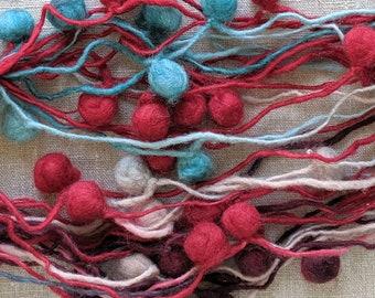 Wool Pompoms, Art Yarn for Weaving, Knitting & Crochet