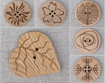 Large Wooden Button for Shawl or Coat, Giant Statement Button