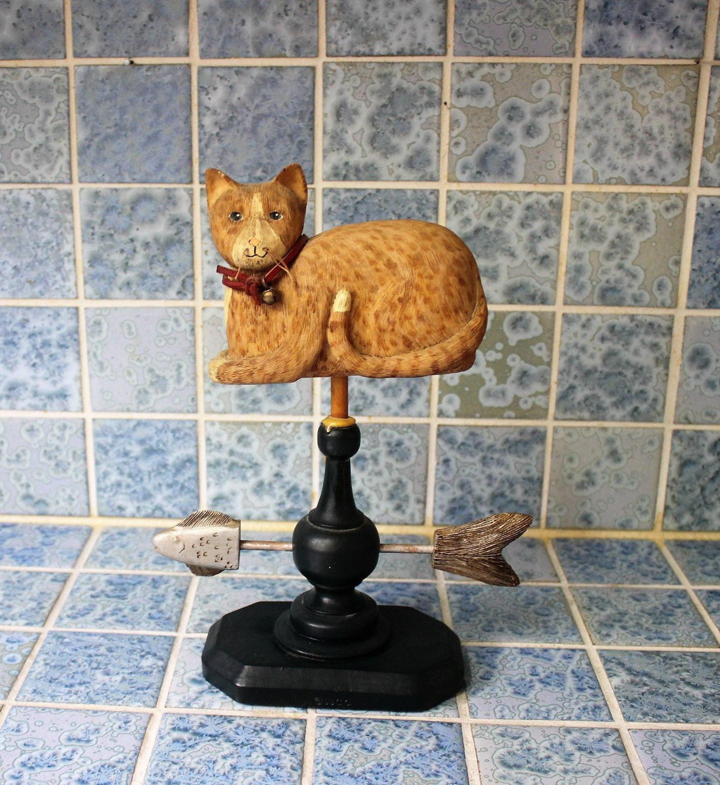 Country Primitive Cat Farmhouse Cat Rustic Cat Decor