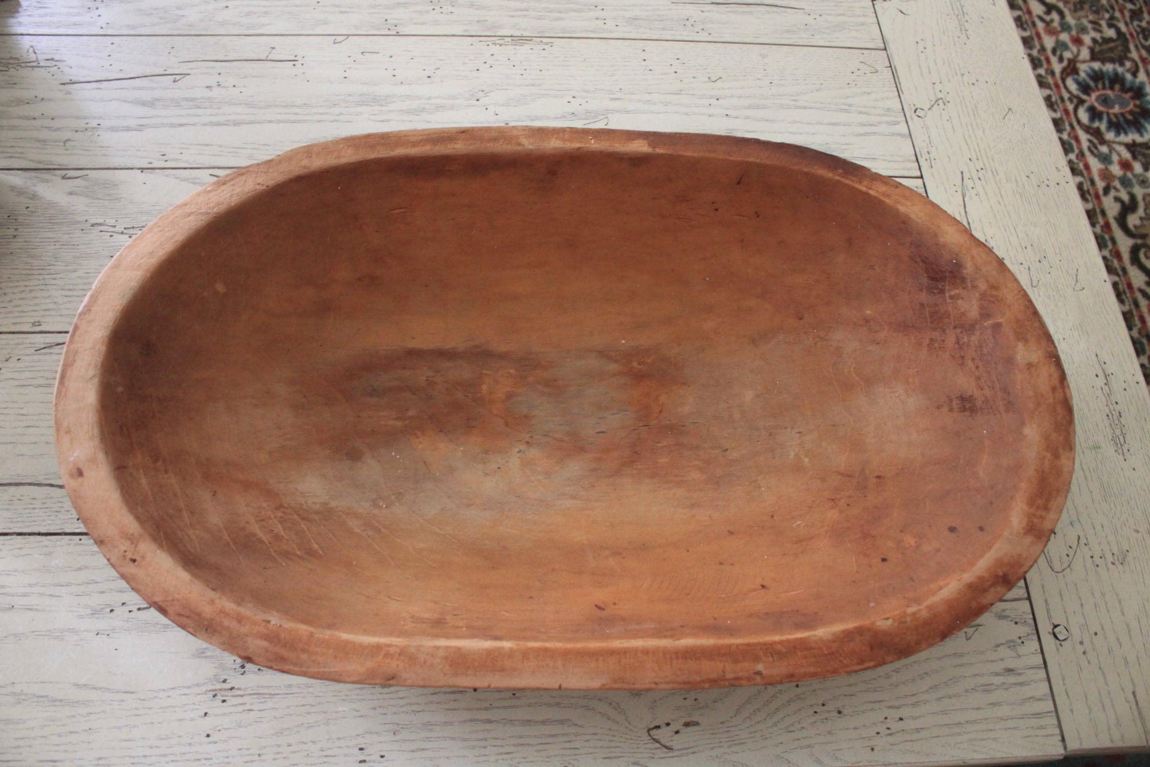 Primitive antique wooden dough bowl Rustic decor One piece if wood Handcarved dough bowl Primitive wooden bowl