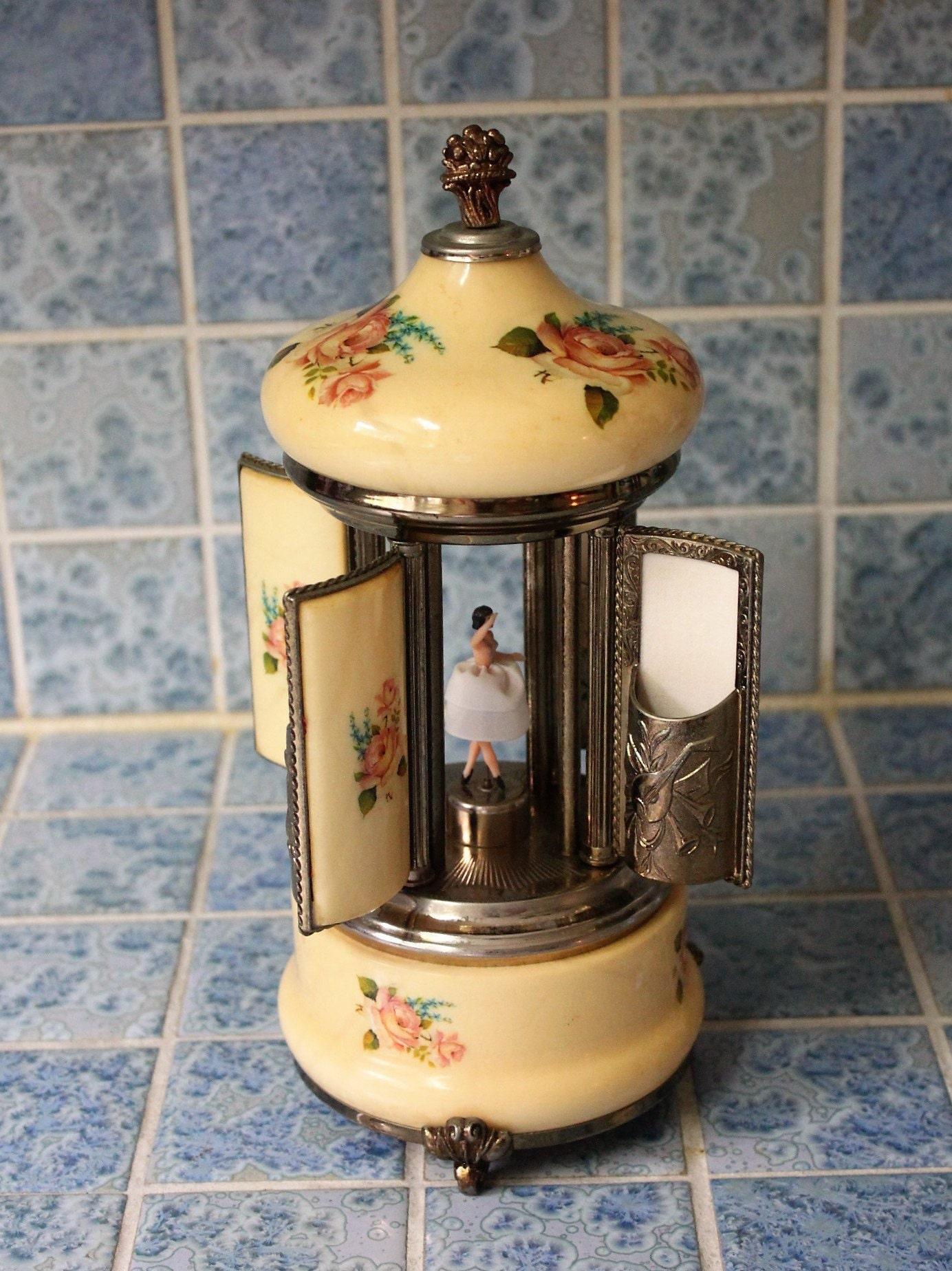 Vintage Reuge dancing ballerina music box