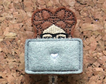 Computer Girl Badge Reel, Id Card Holder, Retractable Felt Badge Holder, Lanyard, Badge Pull, Gifts for Nurses, 1428
