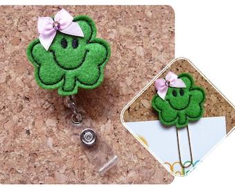 Shamrock Badge Reel, Shamrock Planner Clip, St Patricks Day, Badge Holders, Magnet, Bookmark, Brooch Pin, The Book Nook Patch 178