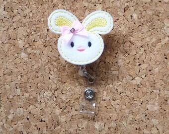 Badge Reel, Felt Easter Bunny ID Badge Holder Lanyard,  Easter    Badge HoldersYellow 104