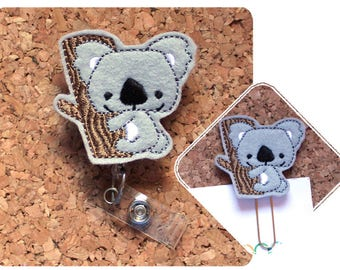 Badge Reels, Planner Clips, Koala, Id Card Holder, Retractable Lanyard, Paperclips, Magnets, Bookmarks, Cute Pins, Planner Accessories 1594