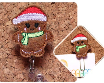 Gingerbread Badge Reel Id Holder, Lanyard, Planner Clip, Bookmark, Key Ring, Pin, Paperclip, Magnet, Ornament, Hair Clip, Headband, 1472