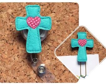 Cross Planner Clip, Felt Easter Paper Clip, Refrigerator Magnet, Cute Brooch Pin, Planner Accessories, Ribbon Bookmark, Badge Reel, 1695