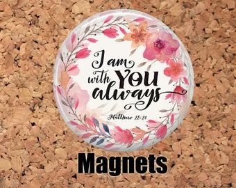 Bible Verse Magnets, Refrigerator Magnets, Christian Magnets, Fridge Magnets, Inspirational Magnets, Christian Gift, Religious Gift