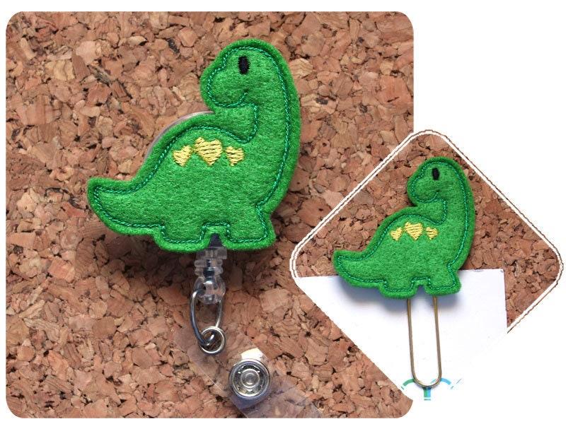 Badge reel badge clip Badge holder Dinosaur badge reel id  holder Dinosaur id holder Teacher ID holder nurse gift medical id reel