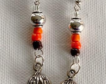 Jack o Lantern Dangle Earrings (20214E)