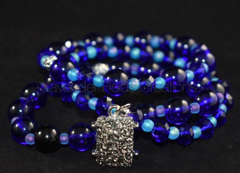 201895B Twilight Blue Triple Stack Stretch Bracelet