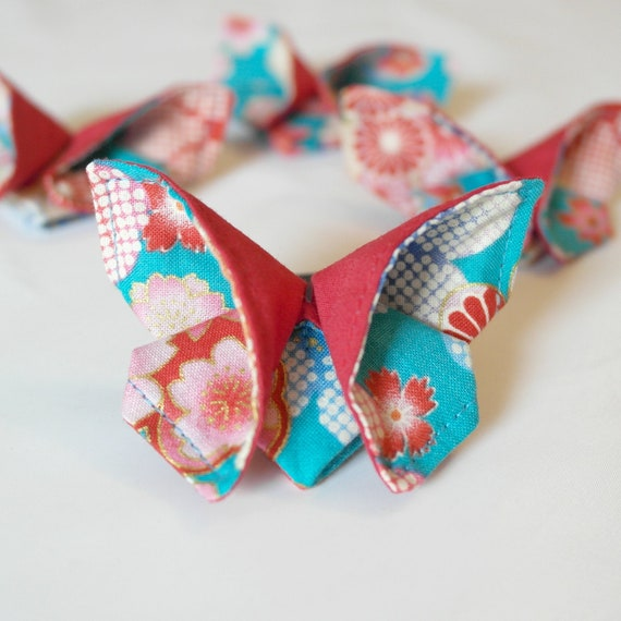Fabric Origami Butterfly brooch