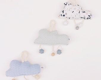 Rattle - Cloud Textile Biter