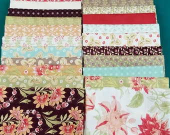 Tapestry by Fig Tree Co For Moda Fabrics. Collectioin of 22 - 1 Yard cuts as shown.
