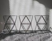 Geometric vases Set of 3 Vases Terrariums Flowerpot Stained glass Terrarium Organiser Pencils box Scandinavian Decor