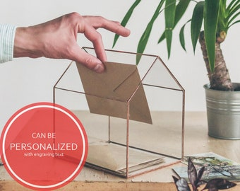 Wedding Card Holder Personalized Wedding Box For Cards Glass Geometric box Personalized Scandinavian decor