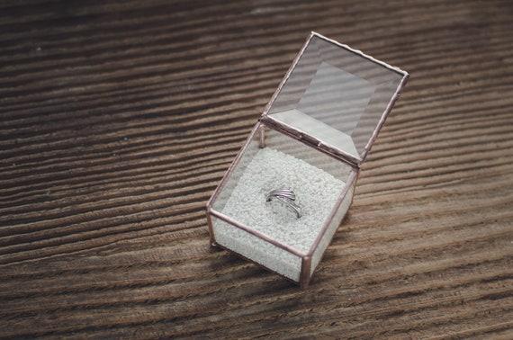 Personalisierte Verlobungsring Box Cube Schmuck Aufbewahrung Etsy