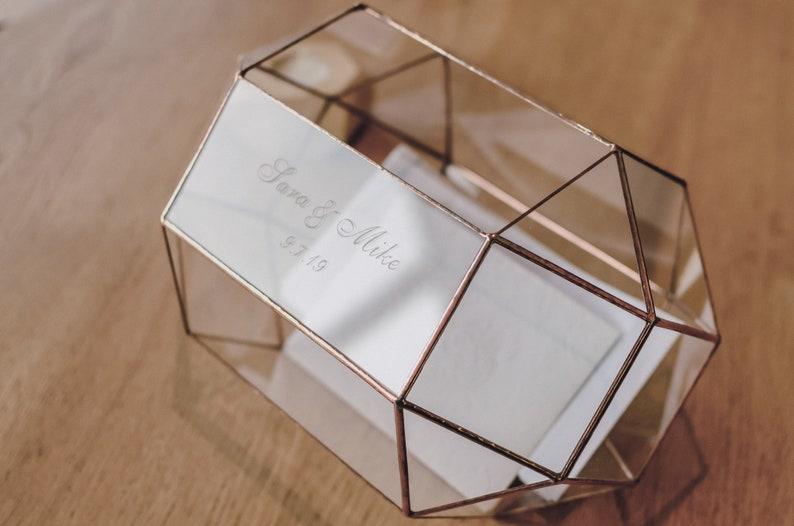 Kartenbox Hochzeit Glas.Kartenbox Hochzeit Glas