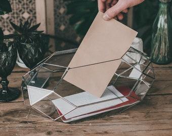 Large Wedding Card Holder Wedding decor Cards Holder Box for wedding cards Terrarium Wedding planer