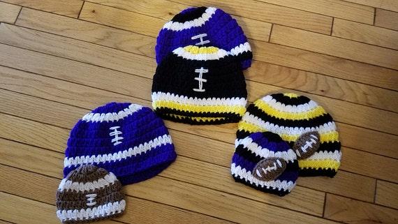 Crochet Football Hat Pattern Sizes Newborn To Adult Etsy