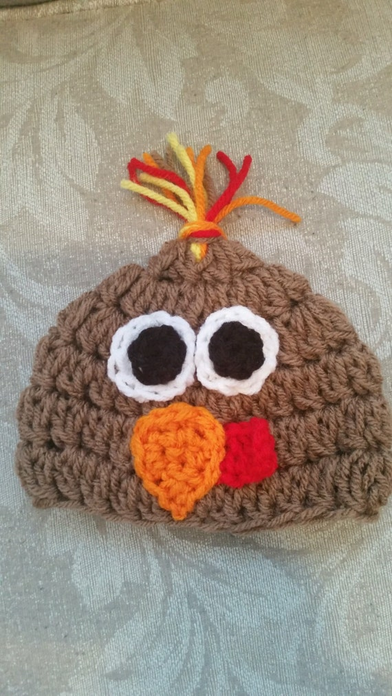 Crocheted Turkey Hat Pattern For Newborn To Adult Etsy