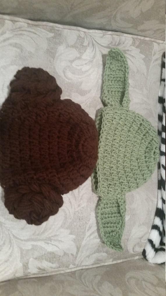 Crochet Yoda And Princess Leia Hat Pattern Etsy