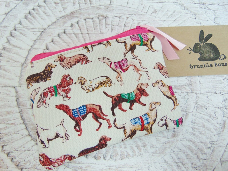aefb20aa764d Dog Coin Purse Dog Breeds Pouch made in Cath Kidston fabric   Etsy