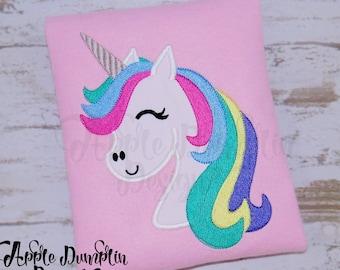 Unicorn, Applique Design, Machine Embroidery, Unicorn Birthday, Girl Applique, Sparkle, Magic, Horse Embroidery, 3x3, 4x4, 5x7, 6x10