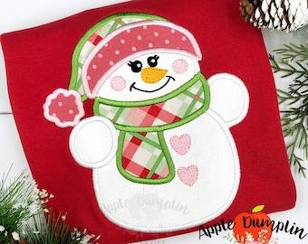 Snowman Applique Etsy