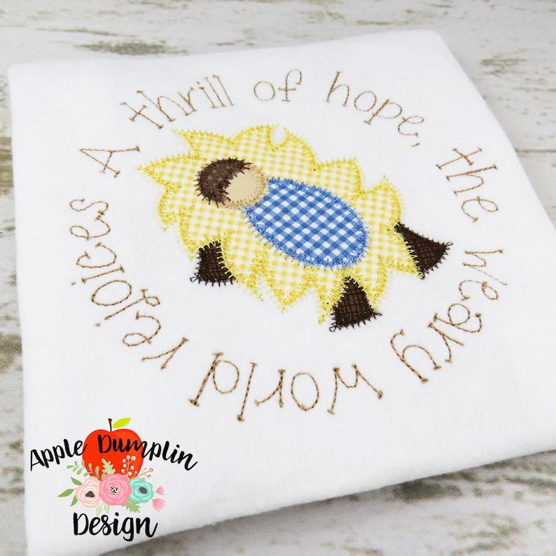 Baby Jesus 6x6 8x8 Zigzag Stitch,Applique Design Instant Download Machine Embroidery 5x5 A Thrill of Hope