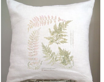 Farmhouse Decor Rustic Country. Shabby Chic. Botanical Print. Fern Pillow. Farmhouse Pillow. Fixer Upper. Cottage Decor. Spring Decor.