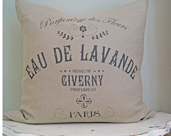 French Country Maison Pillow. Vintage French Pillow. French