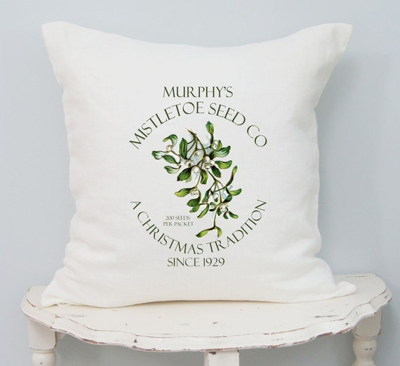 Mistletoe Christmas Pillow Cover