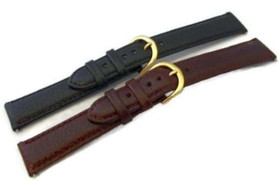 Becerro de Denver acolchado cuero reloj correa banda 14-22mm  316a3da5397