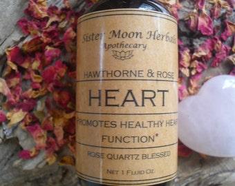 Heart Tincture ~ Hawthorn Tincture ~ Rose Elixir ~ Rose Tincture~ Crystal Elixir, 1 fluid oz.
