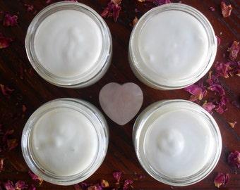 Rose & Coconut Oil Moisturizing Cream - Nourishing Skin Cream - Anti-Wrinkle Cream - Face Cream - Body Cream, Rose Cream, Dry Skin Treatment