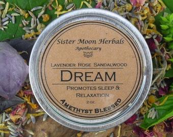 Dream Balm - Lavender Balm - Lavender rub- Stress relief - Sleep aid - Relaxation- Amethyst