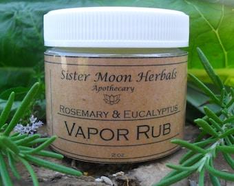 Rosemary & Eucalyptus Vapor Rub -  2 oz.  Mentholated Chest Rub
