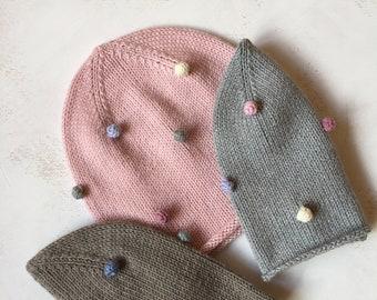 Beanie Jerseymütze  Übergangsmütze  Rosa   Handmade