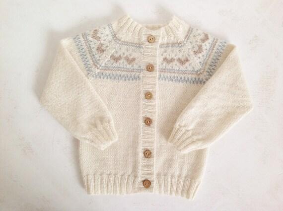 d61bf6aadbf5 Baby sweater hand knit baby sweater  alpaca sweater  baby