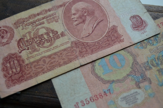 CCCP Russe Guerre Froide sovi/étique Argent Collection LOT 30 KOPEKS Rouble D/'URSS 1961 1 Billet de roubles