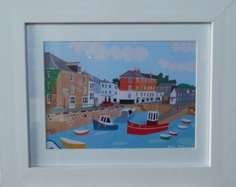 Framed Art Print, Padstow, Cornwall