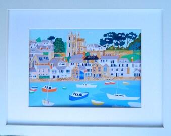 Fowey, Cornwall, Framed Art Print, Seaside View