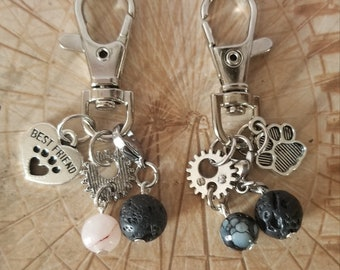 Dog Aromatherapy Tags with Crystal Therapy