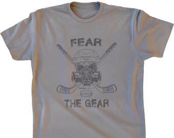 a8b172e03e1 Hockey Shirt -- Fear The Gear -- Hockey T Shirt - Hockey Gift