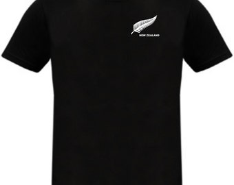 New Zealand Football Soccer Rugby Cricket Team T-shirt - All Sizes Available