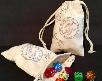Firefly Serenity Persephone Customs Stamp Dice Bag, Game Piece Bag