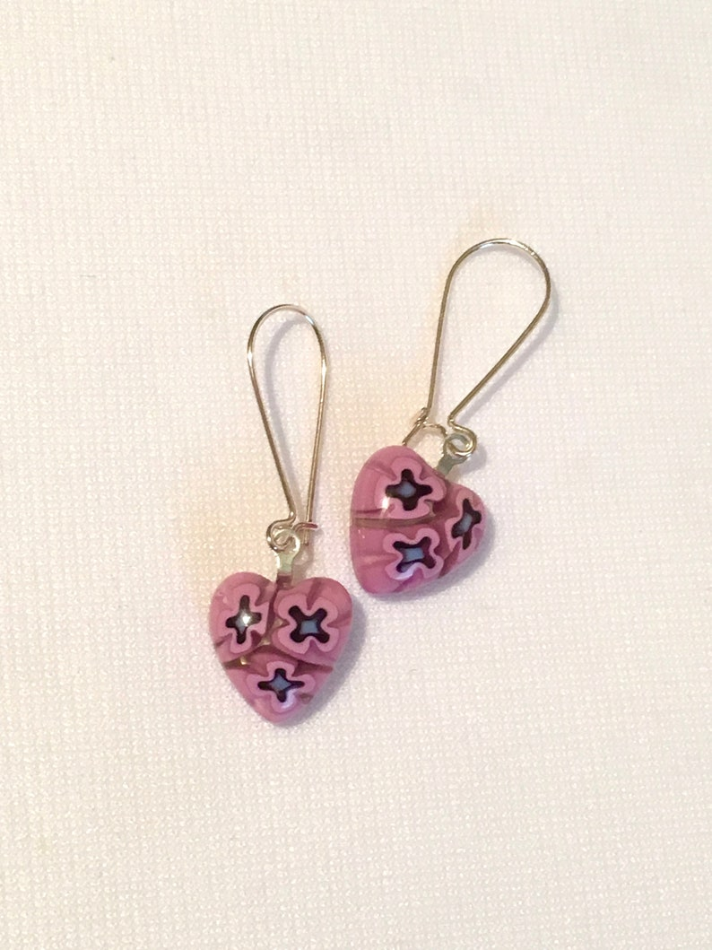 4f0910edb7 Firefly Kaylee Pink Heart Venetian Bead Earrings Serenity   Etsy